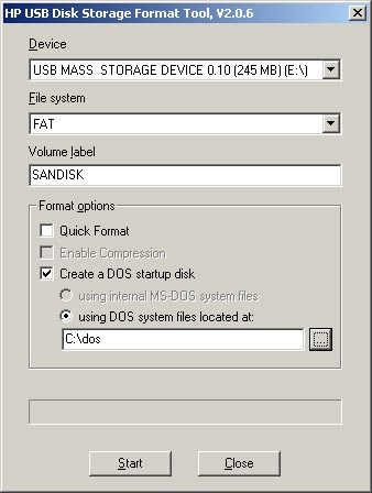 Booting DOS on a Flash Card
